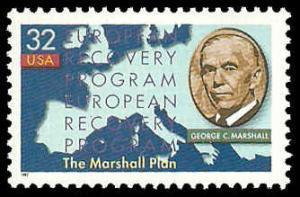 PCBstamps     US #3141 32c Marshall Plan, 1997, MNH, (11)