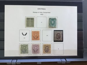 Italian Eritrea 1892   mounted mint  stamps cat 400 R30147