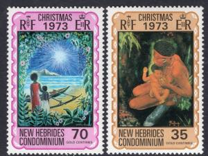 New Hebrides British 179-180 Christmas MNH VF