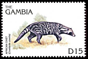 Gambia 1739, MNH, African Civet