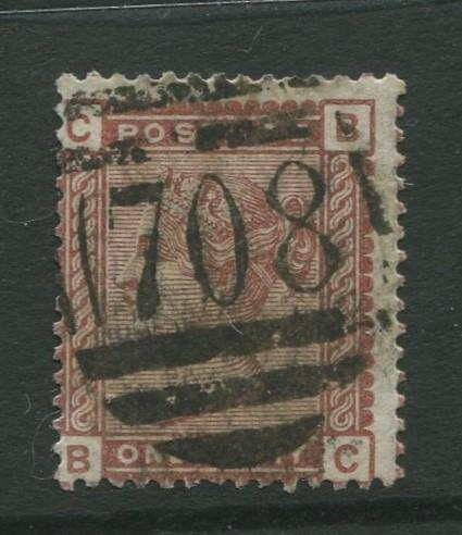 Great Britain #79 FU  1880  Single 1d Stamp