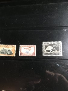GALAPAGOS IS. #LC1 Plus Two Belgium Congo Airmails All Used F-VF Seldom Offered