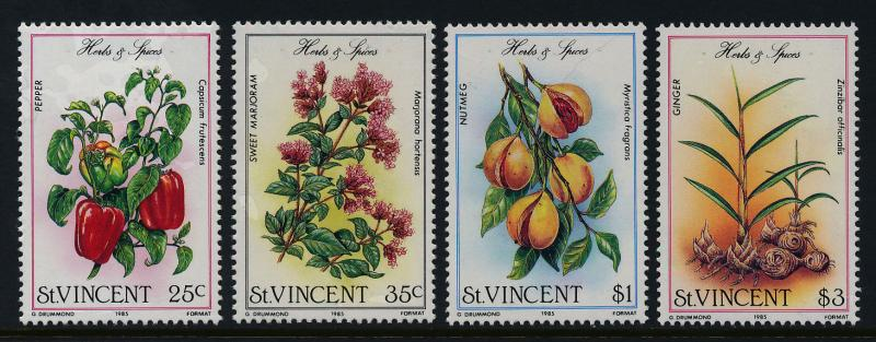 St Vincent 829-32 MNH Herbs & Spices, Flowers