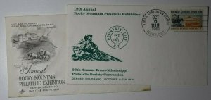 TMPS Convention 1961 Rocky Mountain Philatelic Exhibition Denver CO 1957 Cachet