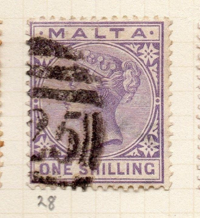 Malta 1885 Early Issue Fine Used 1S. 259502