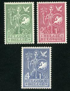 Belgium Stamps # B544-6 VF OG LH Set of 3 Scott Value $73.50