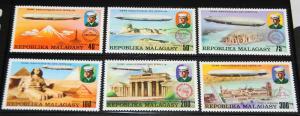 1976 MNH Malagasy Republic Zeppelins, Sc# 545-8, C158-60