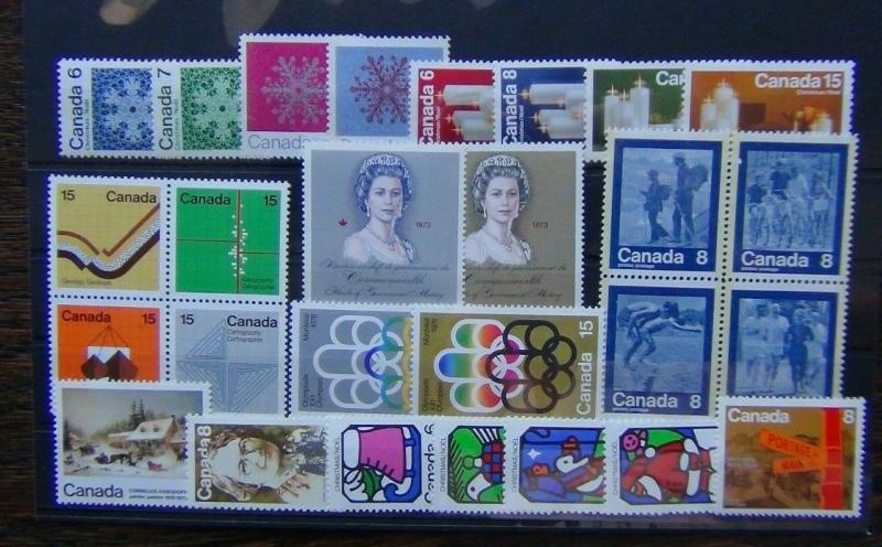 Canada 1971 1973 Christmas Earth Royal Visit Olympics etc MNH