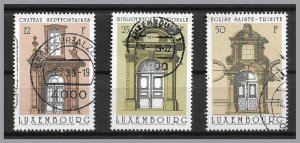 LUXEMBOURG 1988 - Set of 3 - Archtectural Drawings by Wegener - Sc 792-794