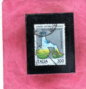 ITALIA REPUBBLICA ITALY REPUBLIC 1981 ANNO INTERNAZIONALE DELLE PERSONE HANDI...