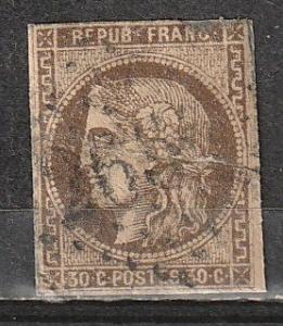 #46 France Used(tear repair)