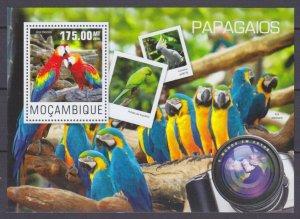 2014 Mozambique 7609/B961 Birds / Parrots 10,00 €
