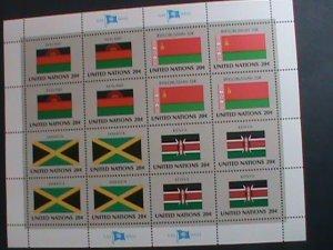 UNITED NATION-1983 SC#403-406 U. N. FLAGS SERIES MNH FULL SHEET- VERY FINE