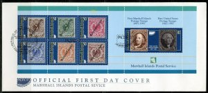 MARSHALL ISLANDS  1997 PACIFICA '97 BOOKLET PANE ON FIRST DAY COVER
