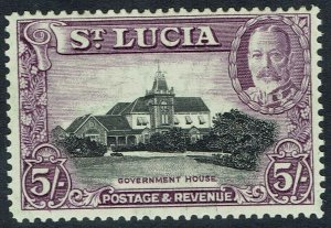 ST LUCIA 1936 KGV PICTORIAL 5/-
