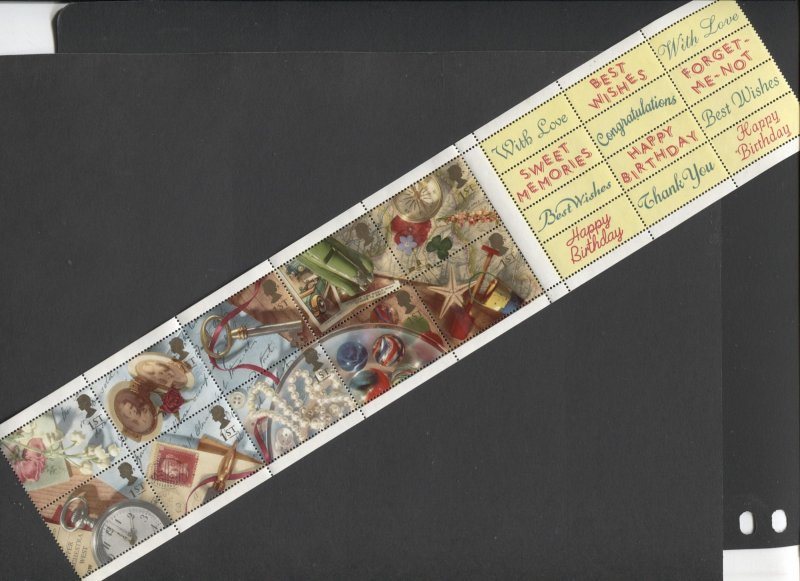STAMP STATION PERTH GB #1426-1435 Memories MNH Pane of 10 with Labels Used