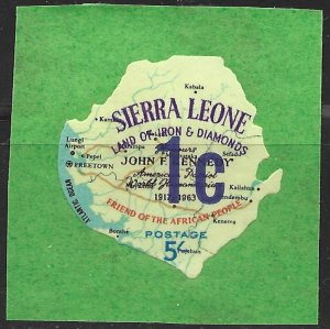 Sierra Leone 1965 Surcharged issue (Scott 270) Unlisted But Mentioned Scott MNH