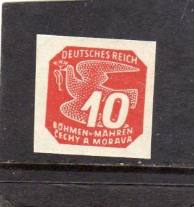 German Bohren and Mahren  1939 Newspaper Stamps  MH