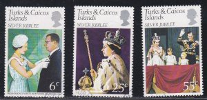 Turks & Caicos Islands, 321-323, Queen Elizabeths Reign Anniv., Used