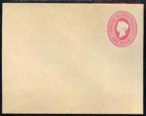 Leeward Islands QV 1d red p/stat envelope unused and fine