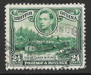 British Guiana Scott #234a Used 24c Sugars Canes in Punts 2017 CV $12.50
