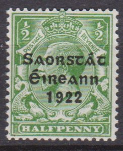 Ireland 1922 Scott 44 King George V MNH