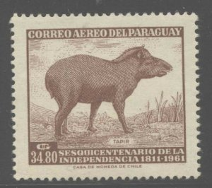 Paraguay 1961 Independence Anniversary set Sc# 594/C293 NH