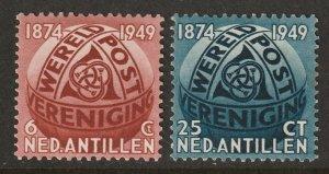 Netherlands Antilles 1949 Sc 206-7 set MH*