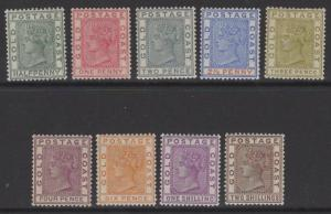 GOLD COAST SG11/9a 1884-91 DEFINITIVE SET MTD MINT