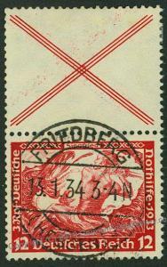 Germany 1933 Wagner Opera Mi S114 Se-Tenant Zusammendruck Strip 53148