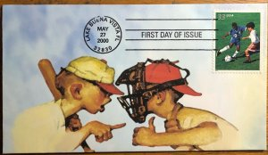 Scott 3399-3402 Youth Team Sports Heritage Cachet First Day Covers