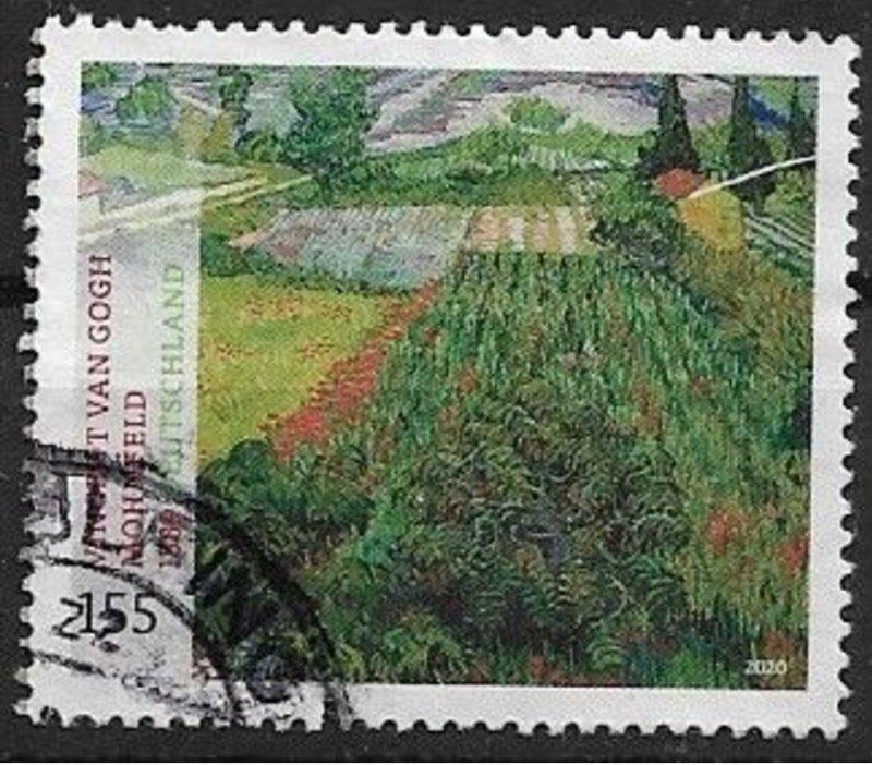 Germany 2020 Error on stamp used van Gogh Yt 3293