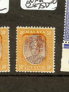 MALAYA JAPANESE OCCUPATION (P2601B) PAHANG   30C  RED CHOP  SHJ185A   MNH