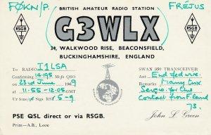 9694 Amateur Radio QSL Card BUCKINGHAMSHIRE ENGLAND