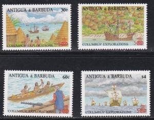 Antigua # 1093-1095 & 1099, Discovery of America 500th Anniversary, NH 1/2 Cat.