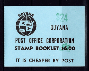 Guyana Booklet contains five blocks of #1826 (trains)