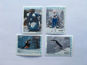 1988 Congo Winter Pre-Olympics , Calgary, 1986 Mint Mi 1056-59