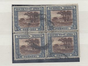 South West Africa KGV 1931 Bi-Lingual Block Of 4 SG80 Fine Used J8230