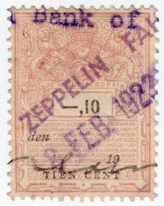 (I.B) Netherlands Revenue : Bill of Lading 10c (Zeppelin)