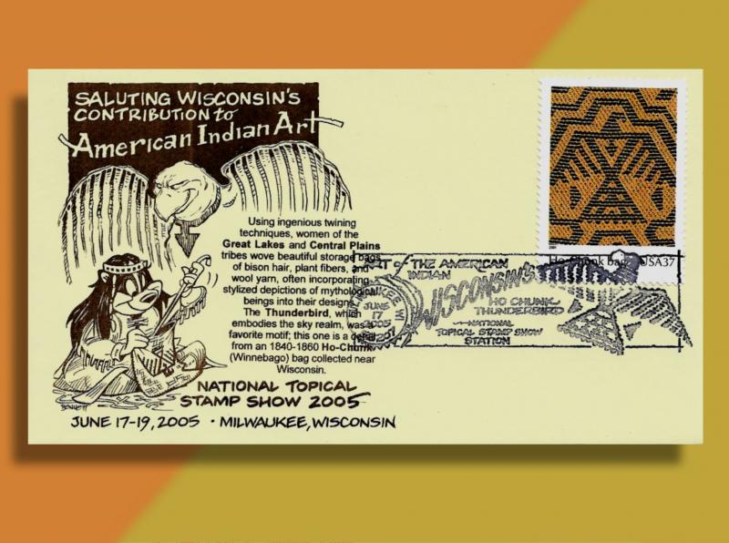 The Nat'l Topical Stamp Show 2005 Wisconsin - American Indian Art . . & Badger!
