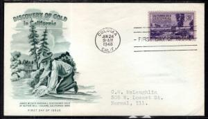 US 9954 California Gold Artmaster Typed FDC