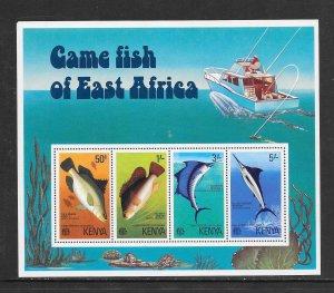 FISH - KENYA #71a  GAME FISH  MNH