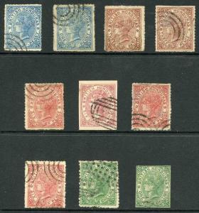 British Honduras Selection of TEN Forgeries
