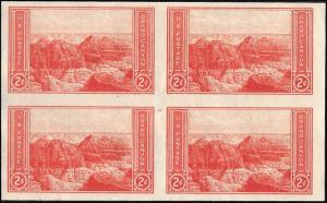 757 Mint,NGAI,LH... Block of 4... SCV $1.00