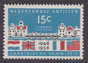 Netherlands Antilles # 235, St. Annabaai Harbor & Flags, Hinged, 1/3 Cat.