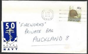NEW ZEALAND 1990 cover 50th ANNIV NAVY, Cinderella.........................13100