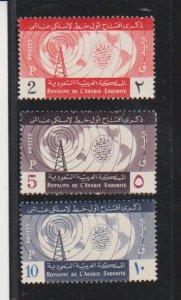 Saudi Arabia Scott   #305-307   Radio Tower Mint Light Hinged