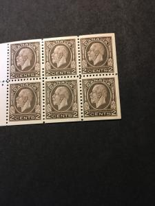 Canada USC#196b Mint 1933 Pane of Six Better Than Fine Which Cat. $75.& VF$120.