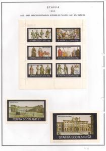 SCOTLAND - STAFFA - 1982 - Mediaeval Scenes #5 - Perf 6v, Souv, D/L Sheets - MLH