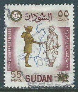Sudan, Sc #126, 55m Used